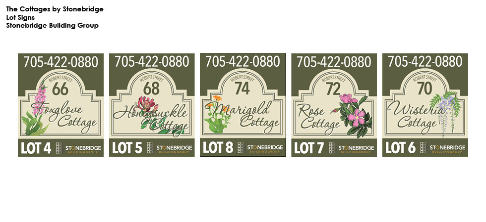 The Cottages by Stonebridge - Lot Signs