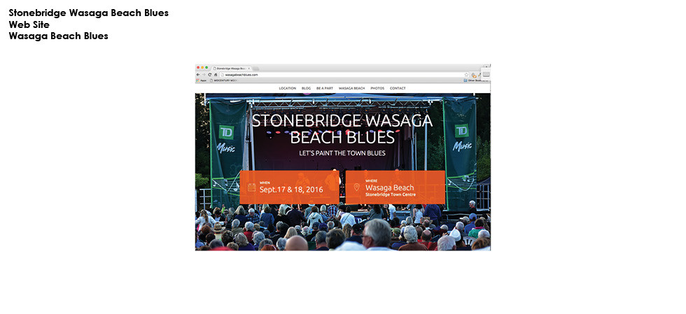 Stonebridge Wasaga Beach Blues Web site